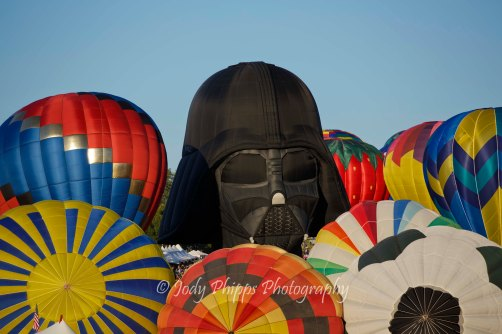 Darth Vadar rises above the multitude of balloons at the 2012 Great Reno Balloon Race.