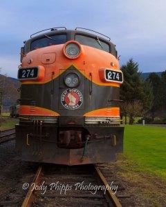 Great Northern Railway Engine 274 at Girabaldi, Oregon.