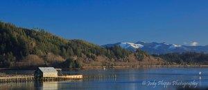 The pier at Girabaldi, Oregon.