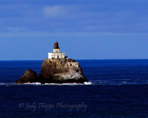 """Sitting 1.3 miles of the coast at Ecola State Park, the Tillamook Rock Lighthouse became known as """"Terrible Tilly""""."""