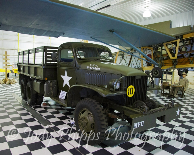 "A 1940 General Motors CCKWX-353 ""Deuce and a Half"" at the Fagen Fighters WWII Museum."