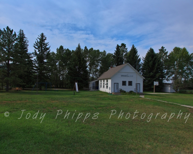 Still in use today, the Springhill School is just outside of Bozeman, Montana