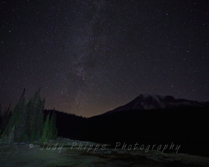 The Milky Way was out at Mt. Ranier