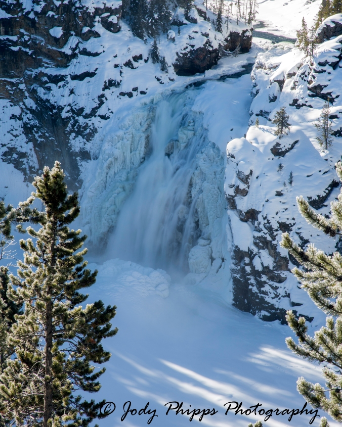 Smaller than it's famous counterpart, Upper Yellowstone Falls plunges 109 feet down the Yellowstone River.