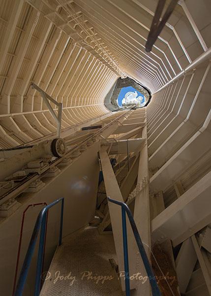 The interior of the McMath-Pierce Solar Telescope at the Kitt Peak National Observatory.