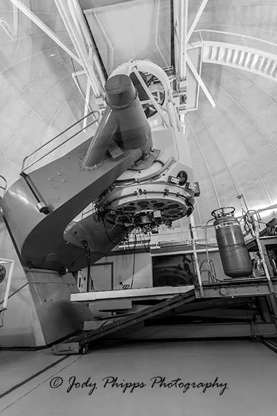 The 2.1m Telescope at Kitt Peak National Observatory.