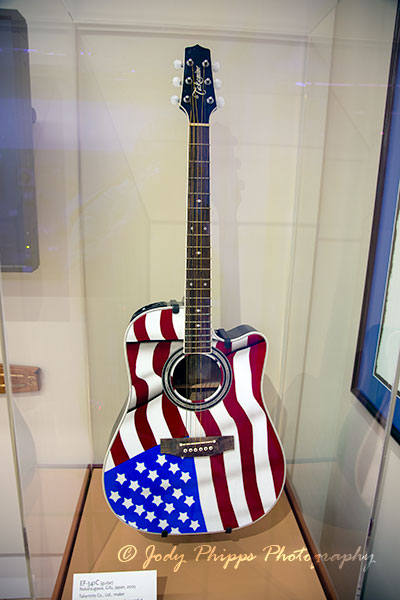 An EF-341C guitar, owned by Toby Keith; one of many instruments that was damaged at the Soundcheck storage facility in the 2010 Nashville Flood