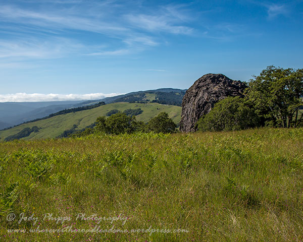 Sweeping vistas abound as you make you way up the Lyons Ranch Trail.